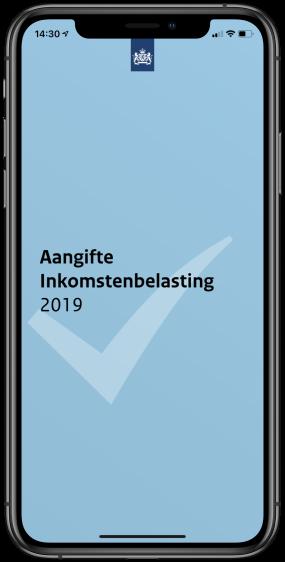 Aangifte inkomstenbelasting 2019: app