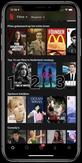 Netflix top 10 series en films