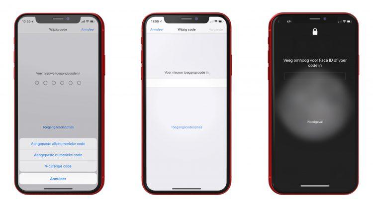 Alfanumerieke code iPhone