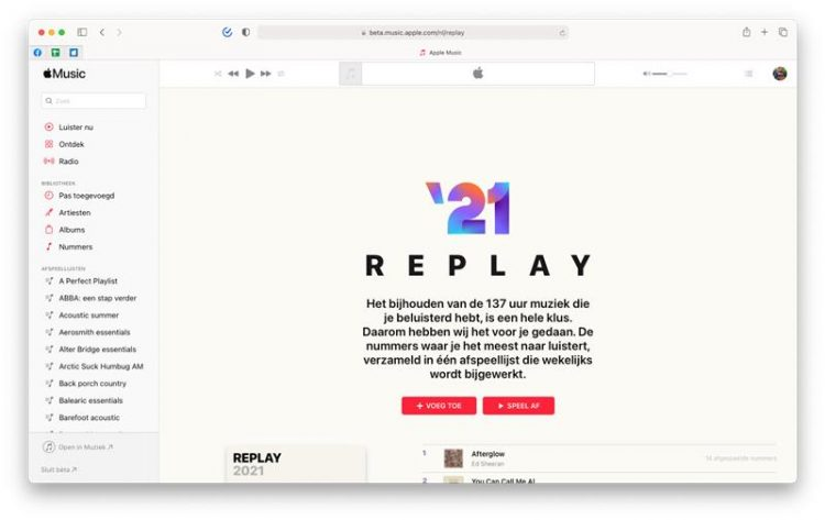Apple Music Replay Browser