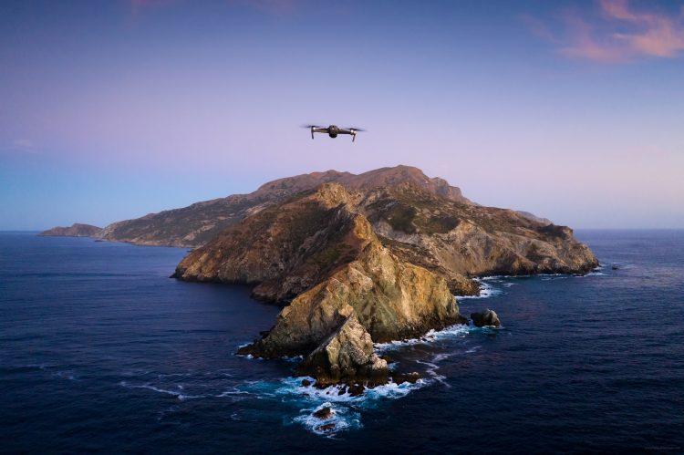 Catalina wallpaper drone