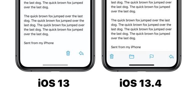 Mail iOS 13.4