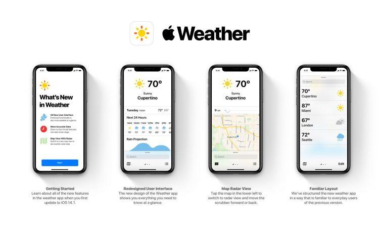 weer app iPhone update