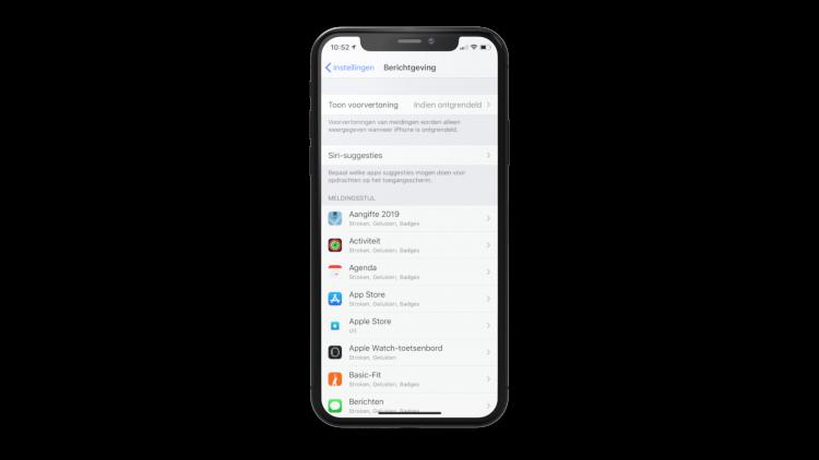 iPhone meldingen uitschakelen