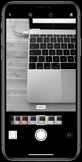 iPhone zwart-wit foto's