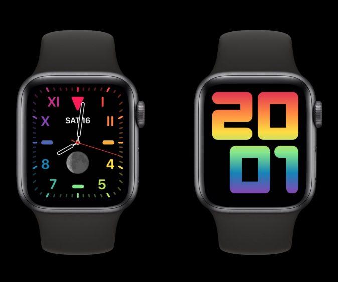 Regenboog wijzerplaat Apple Watch