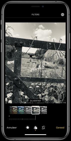 zwart wit filter iPhone