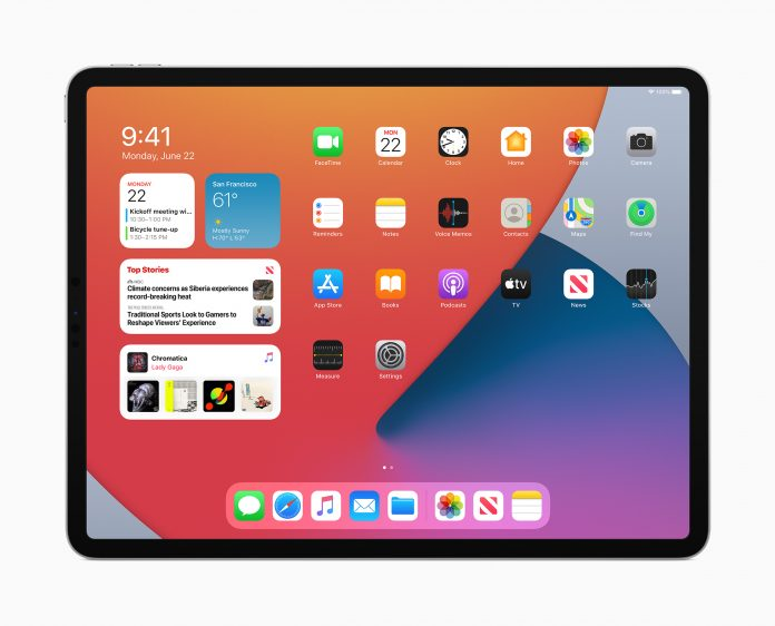 iPadOS 14 widgets