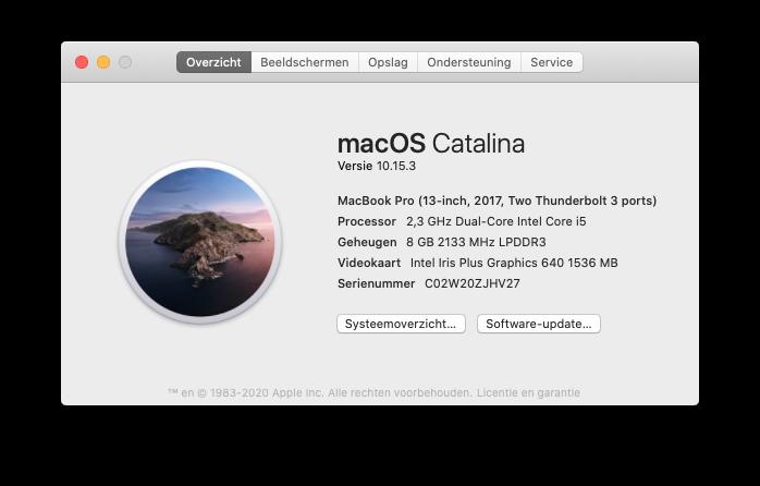 macOS Big Sur ondersteuning