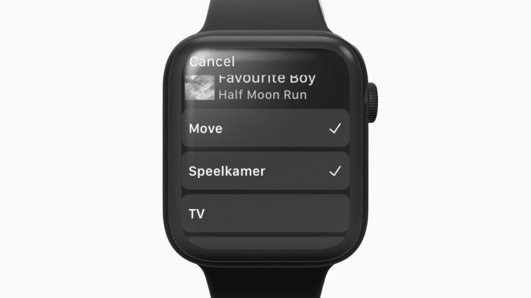 Sonos Apple Watch groeperen