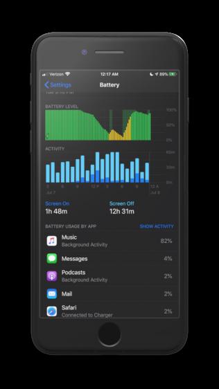 Apple Music Batterij