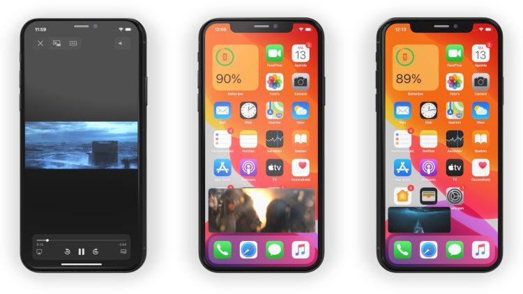 Beeld in beeld iPhone