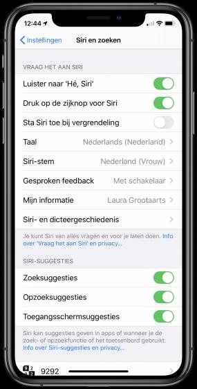 Siri niet toestaan bij vergrendeling