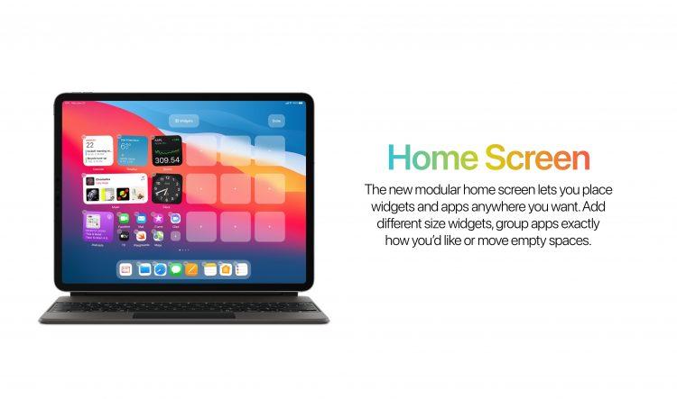 Thuisscherm met widgets