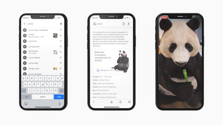 Google 3D dieren iPhone