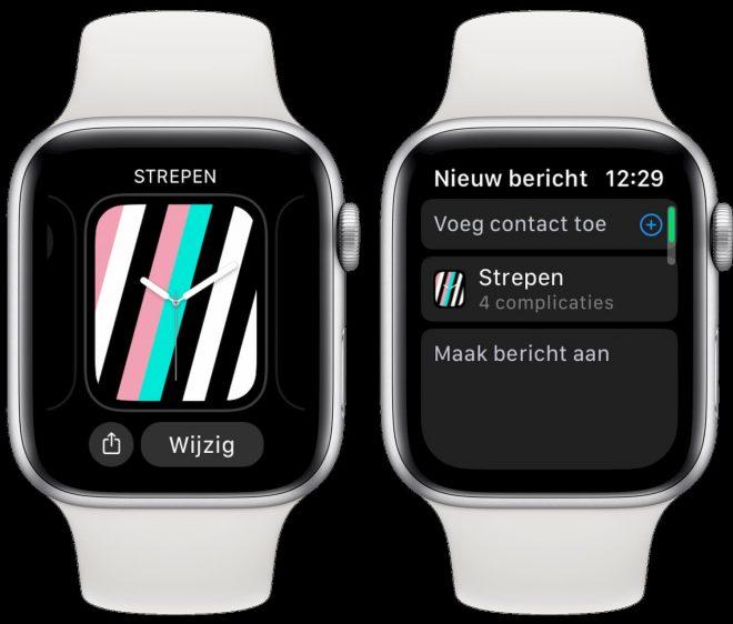 Apple Watch wijzerplaat delen