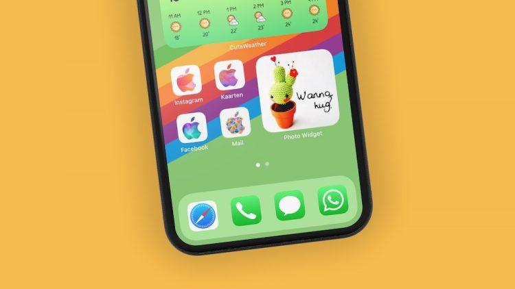 Thuisscherm met widgets en custom apps