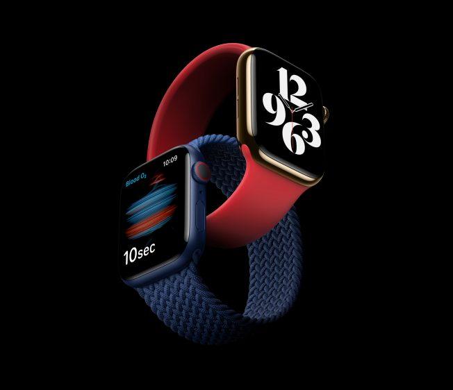 twee Apple Watch Series 6