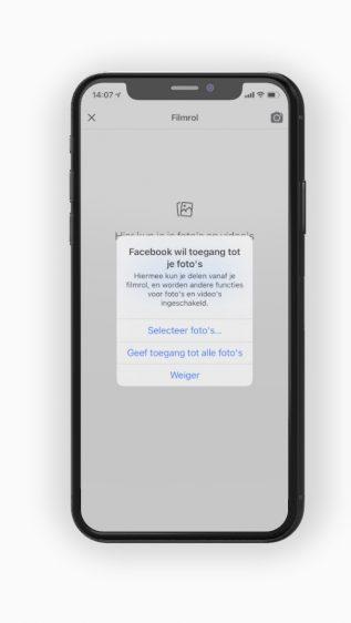 iOS 14 toegang fotobibliotheek