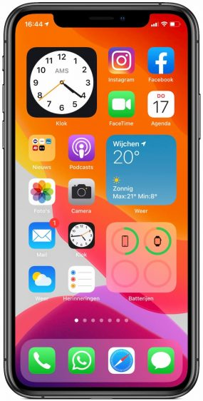 Klok widget iOS 14