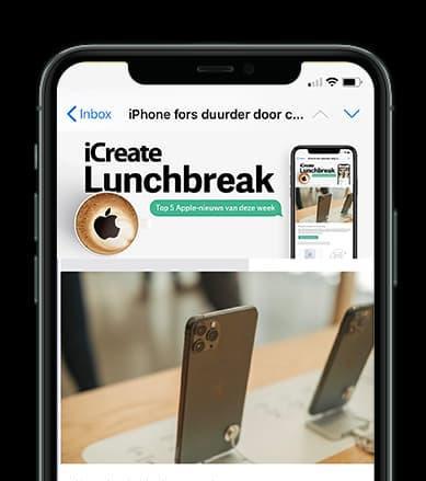 Wekelijks Apple nieuws in je mail