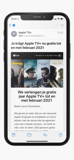 Apple TV+ mail over gratis proefperiode