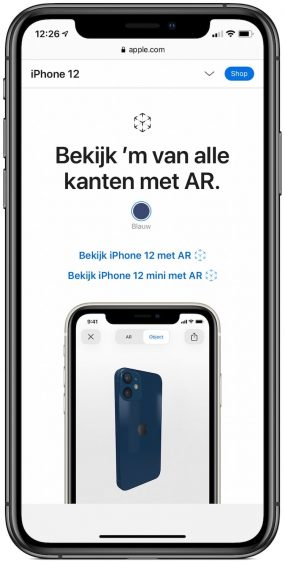iPhone 12 augmented reality