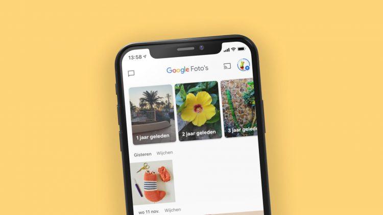 Google Foto's op iPhone