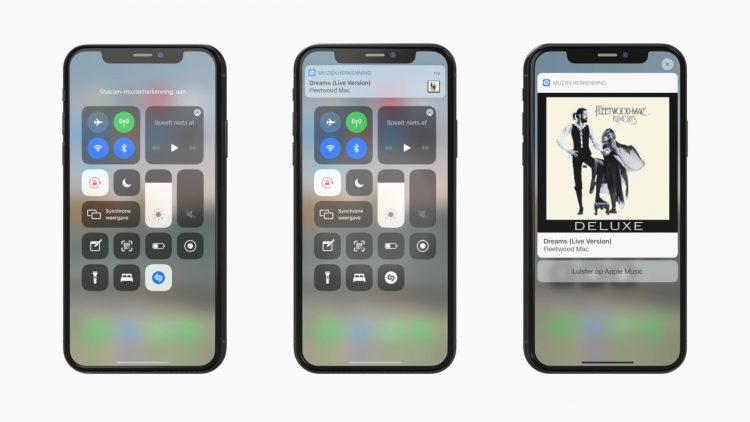 muziekherkenning iPhone shazam
