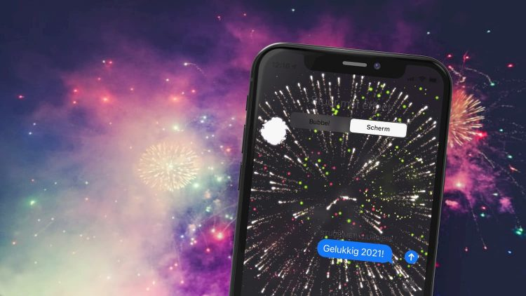 Vuurwerk bericht iPhone