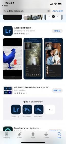 adobe lightroom iOS 1