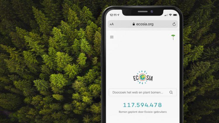 Ecosia zoekmachine iphone