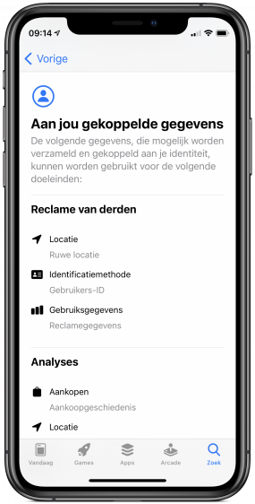 Gmail privacy labels app store