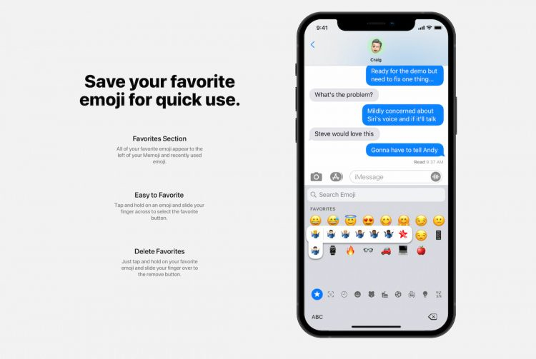 Emoji favorieten toevoegen