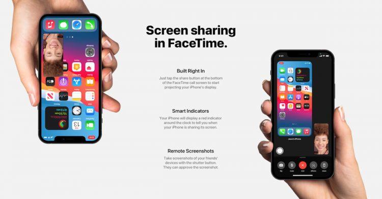 iOS 15 concept van FaceTime