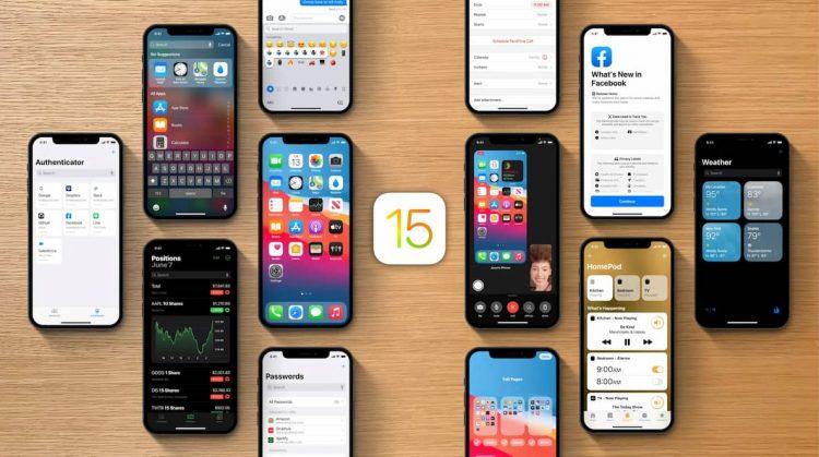 Een iOS 15 concept