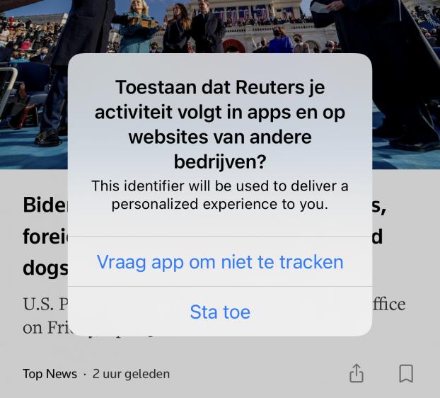 Trackingverzoeken iOS 14.5