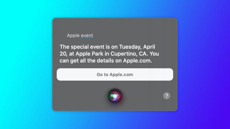 Siri verklapt: Apple-event op 20 april - iCreate