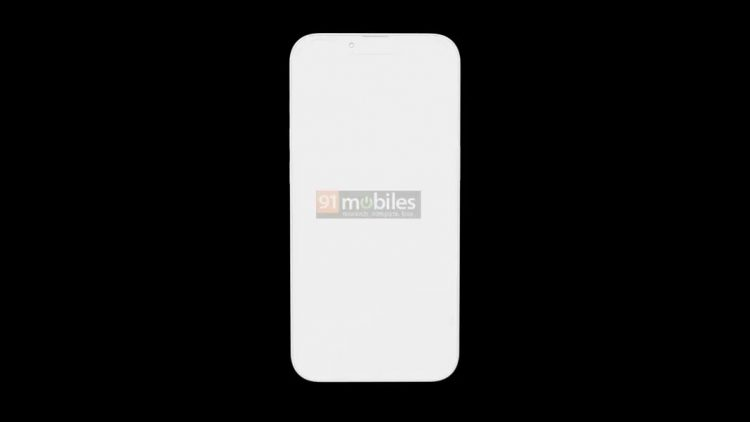 iPhone 13 notch render