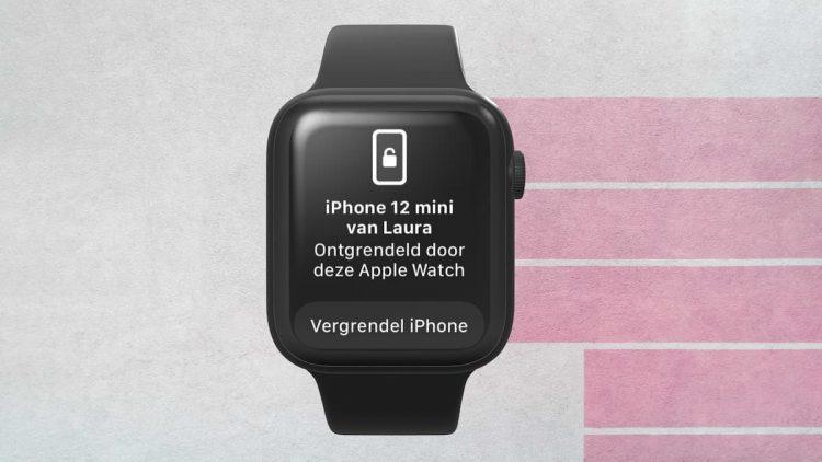 iPhone ontgrendelen met Apple Watch