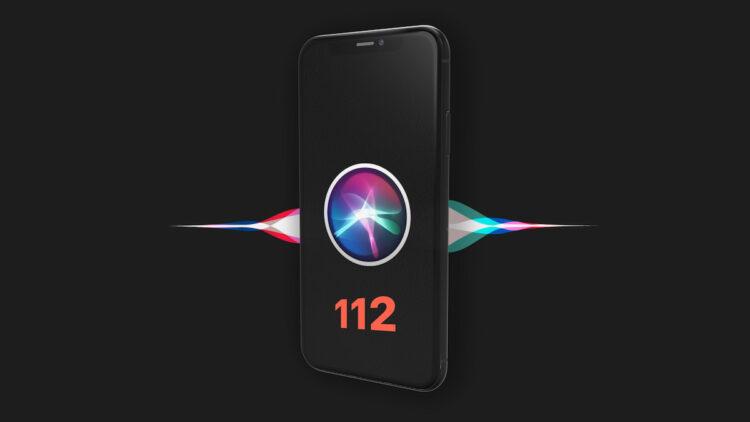 Siri 112 bellen