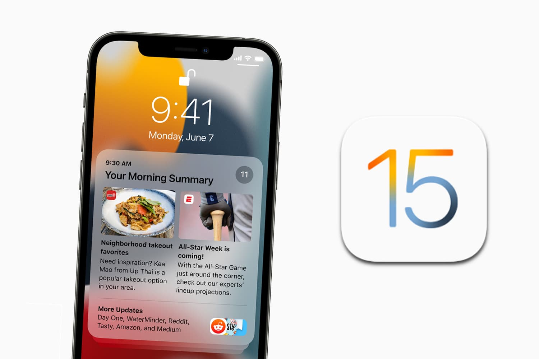 iOS 15 meldingenoverzicht