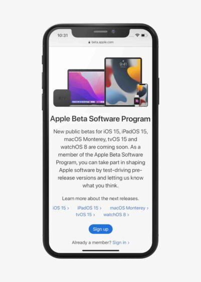 iOS 15 publieke bèta installeren