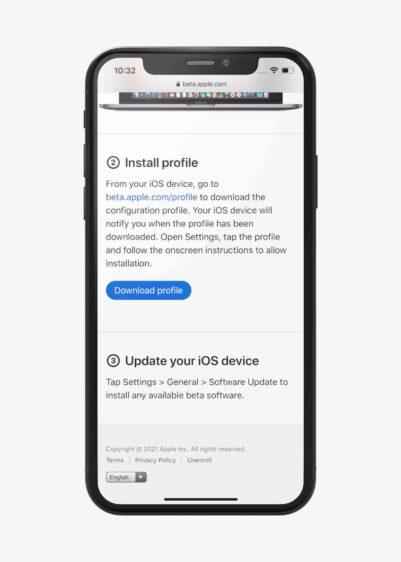 iOS 15 bèta installeren