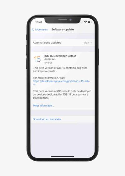 iOS 15 publieke bèta downloaden