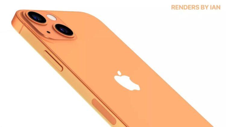 iPhone 13 kleuren sunset gold