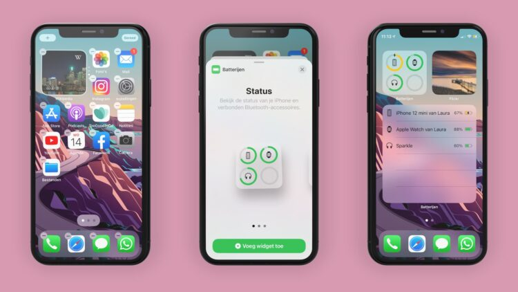 iPhone batterij widget