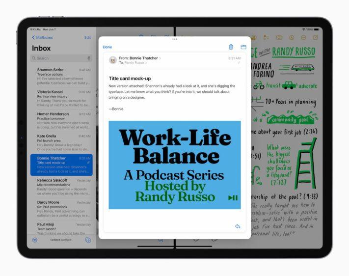 iPadOS 15 multitasken
