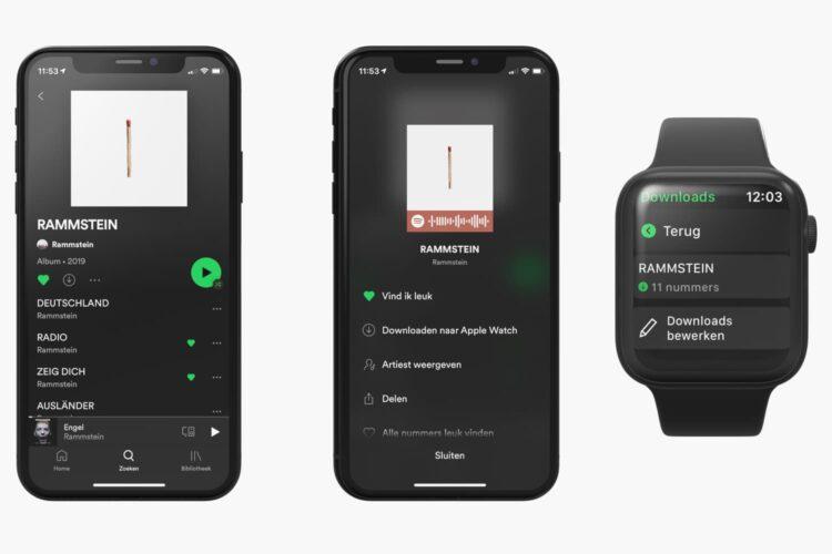 Spotify Apple Watch Offline
