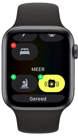 Apple Watch bedieningspaneel verwijderen